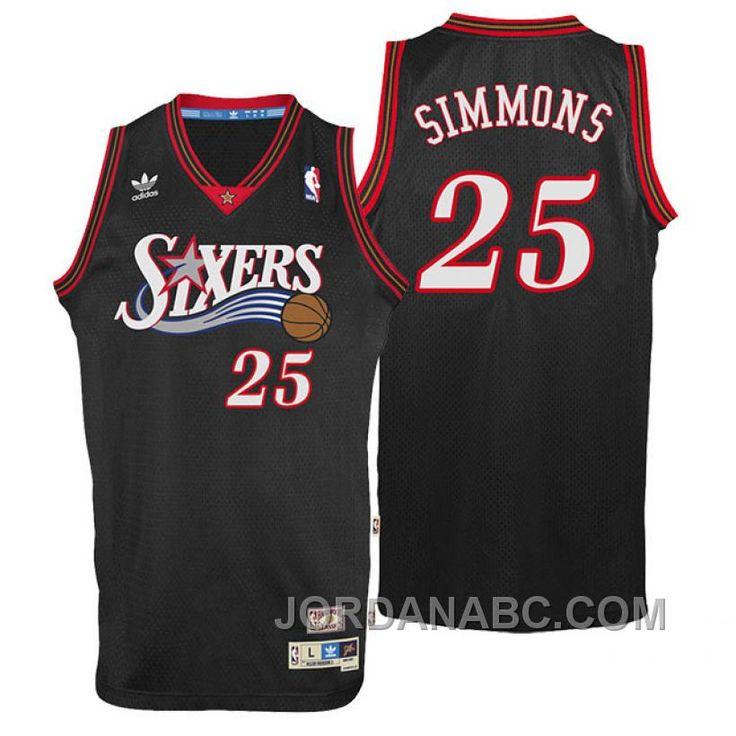 fa0216c49 ... NBA Draft 25 Ben Simmons Home Swingman Jersey-White Find Philadelphia Ben  Simmons Throwback Swingman Black Jersey Top Deals online or in Footseek.