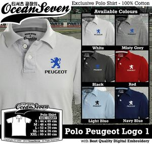 Baju Kaos Kerah Pria - Polo Peugeot Logo 1