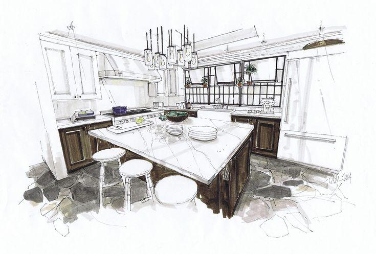 kitchen hand rendering - Google Search