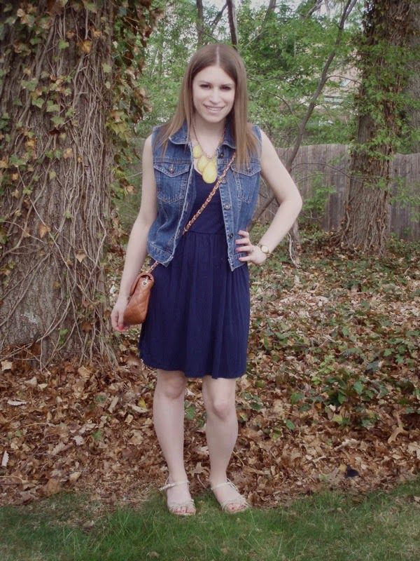Navy Summer Dress + Giveaway!