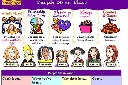 Purple Mooon website 1998
