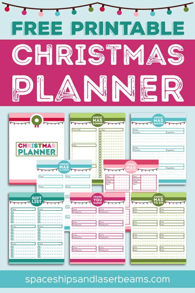 ChristmasPlannerPinnable | EI | Pinterest | Planners, Free
