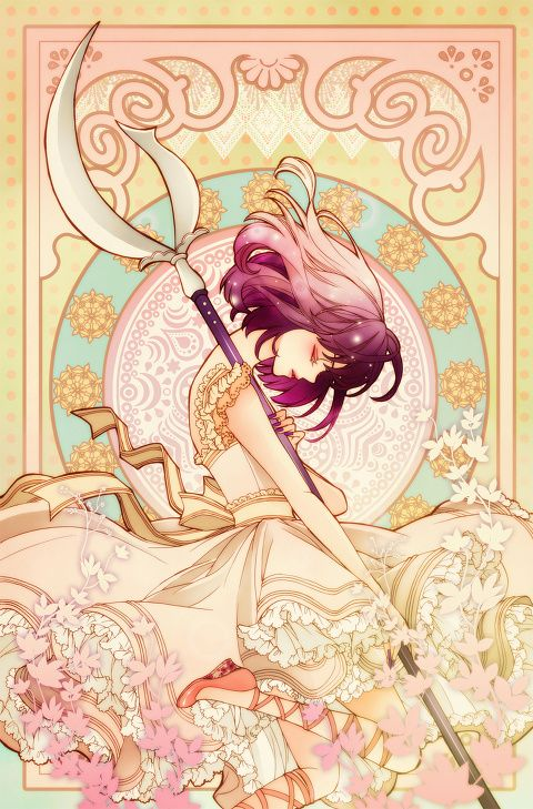 sailor saturn from sailor moon / art nouveau by sizh