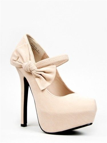 Details about NEW Women Side Bow Faux Suede Mary Jane Platform