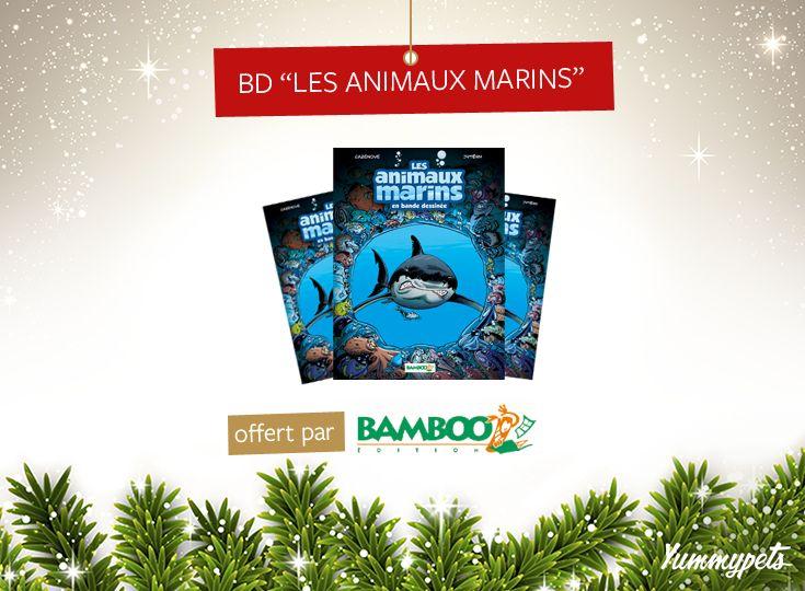 Plongez à la découverte du monde fascinant des animaux marins avec Bamboo édition.  Tentez de gagner 1 des 2 numéros mis en jeu, en pin it et en aimant cette publication. -  Plus d'information sur cette BD ici : http://ymp.io/u/bd -   #bd #jeuconcours