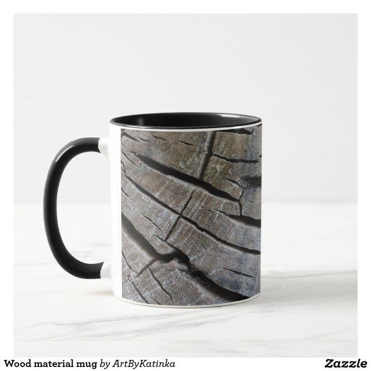 Wood material mug