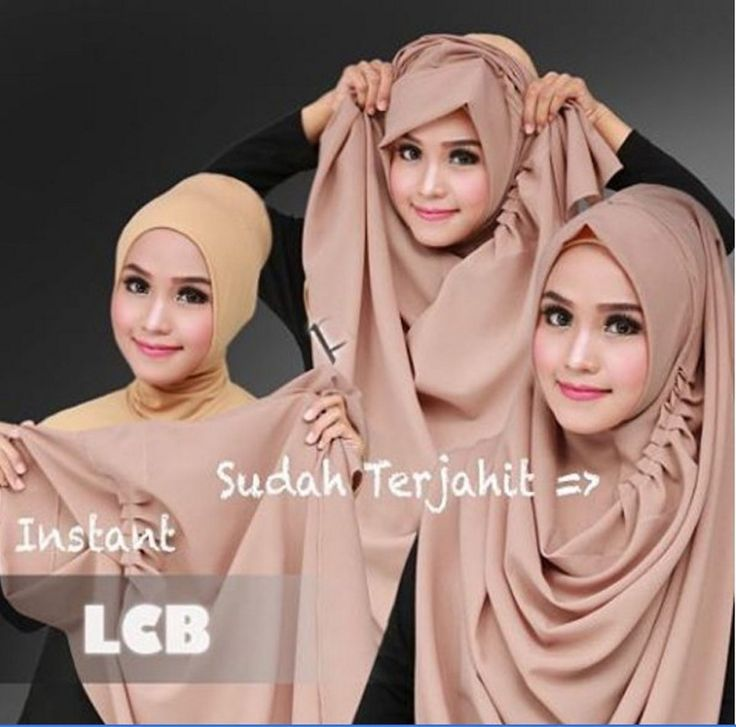 New Women's Long Jilbab Hijab Instan LCB quick steps hijab - Other