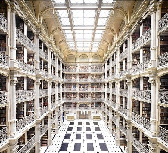 Baltimore, United States - Johns Hopkins University George Peabody Library