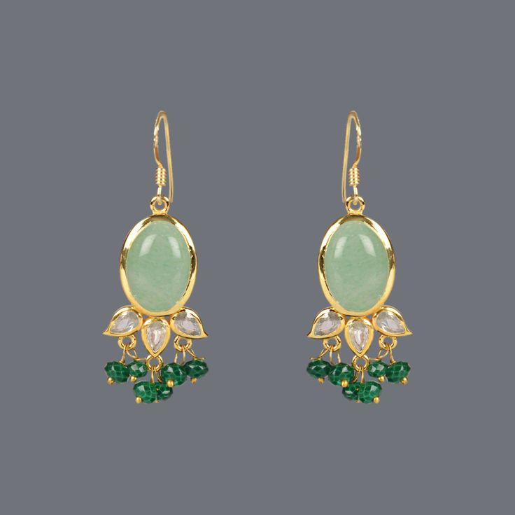 Featuring this Green Chalcedony Earring by Designer Deepa Sethi on Zarilane.com. Go, Grab yourself one Now!