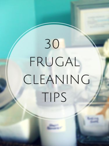30 frugal house cleaning tips - http://christianpf.com/frugal-cleaning-tips/