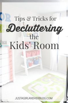 Kids' rooms = So. Much. Clutter! Love the way she tackled her kids' cluttered room! | JustAGirlAndHerBlog.com