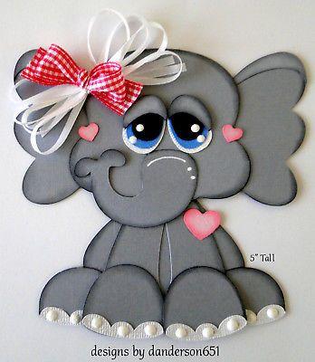 Elephant Animals Paper Piecing PreMade 4 Border Scrapbook Album danderson651