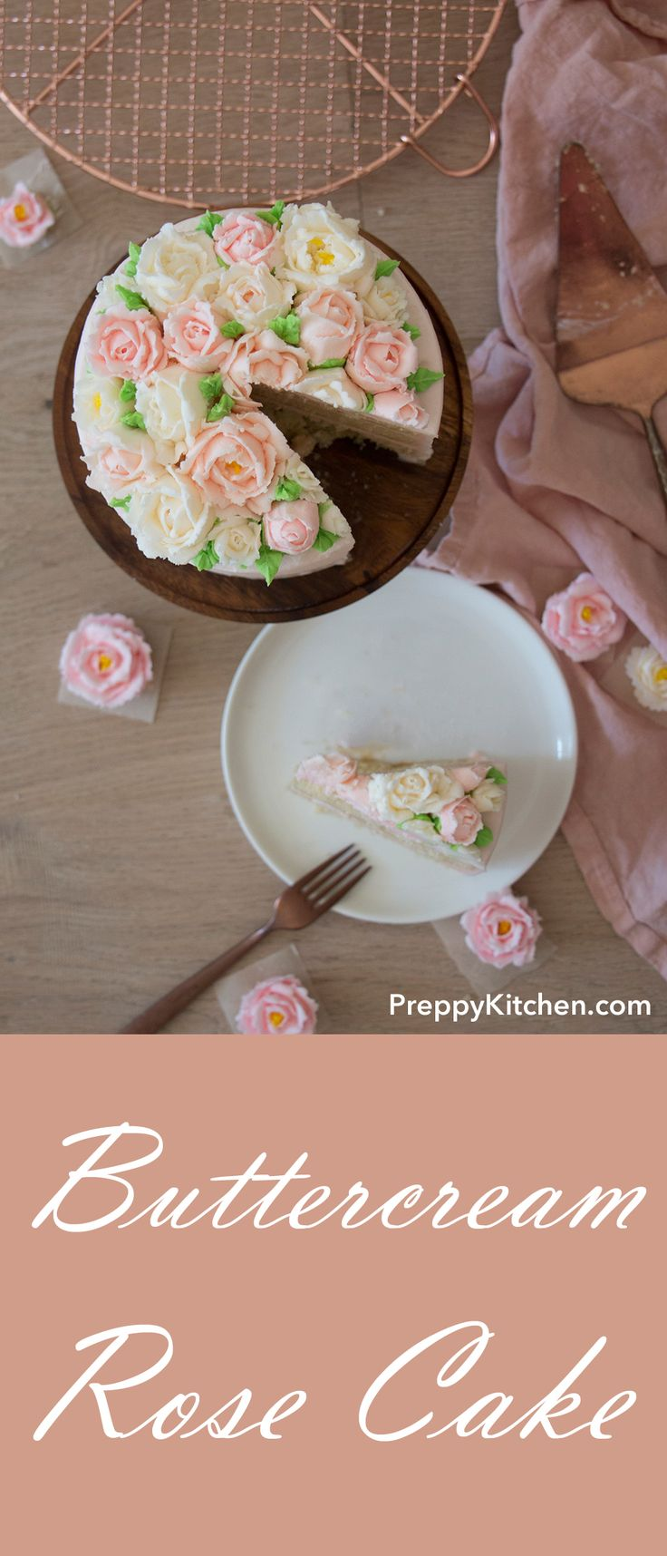 Easy buttercream rose cake make with simple ingredients. Make it for a birthday party or any occasion. I will show you easy it is to make those roses