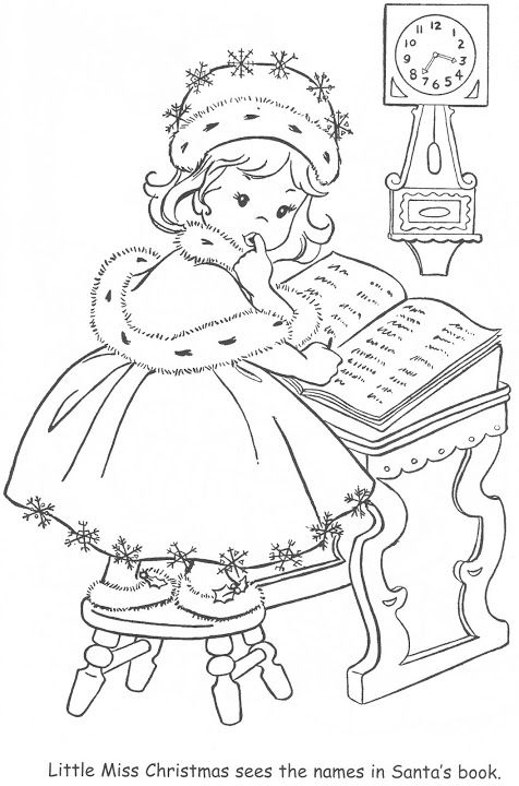 Coloring Book~Little Miss Christmas and Santa - Bonnie ...