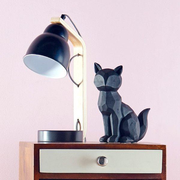 Black Curved Side Lamp