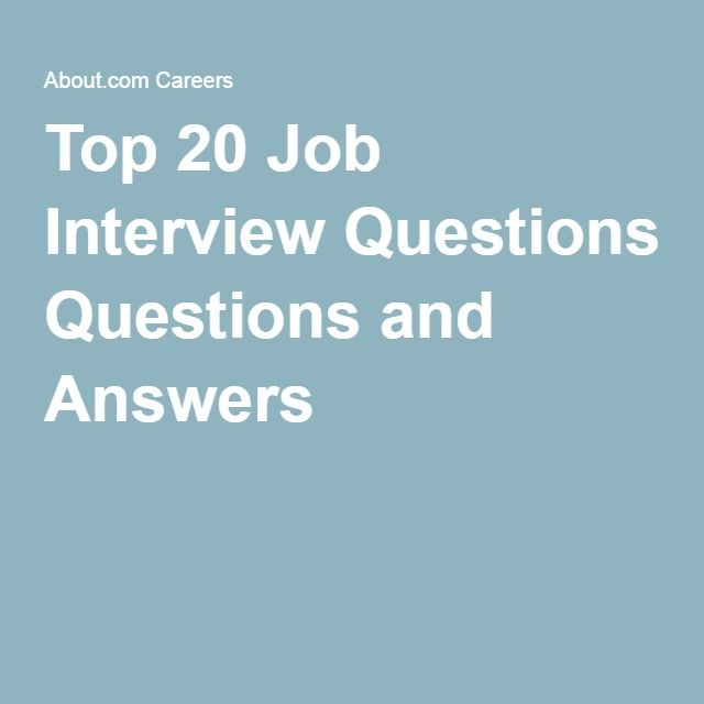job interview questions and best answers pdf