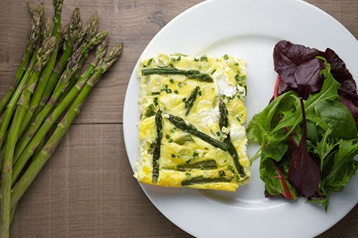 Seasonal Spring Frittata with Asparagus and Goat's Cheese
