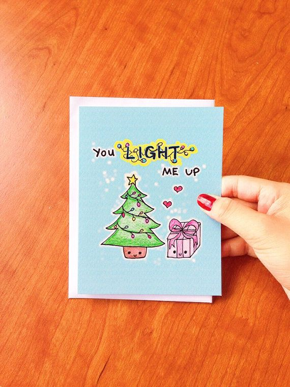 Funny Christmas Cards, funny christmas card funny, christmas card boyfriend, christmas tree card husband, funny holiday card girlfriend by LoveNCreativity