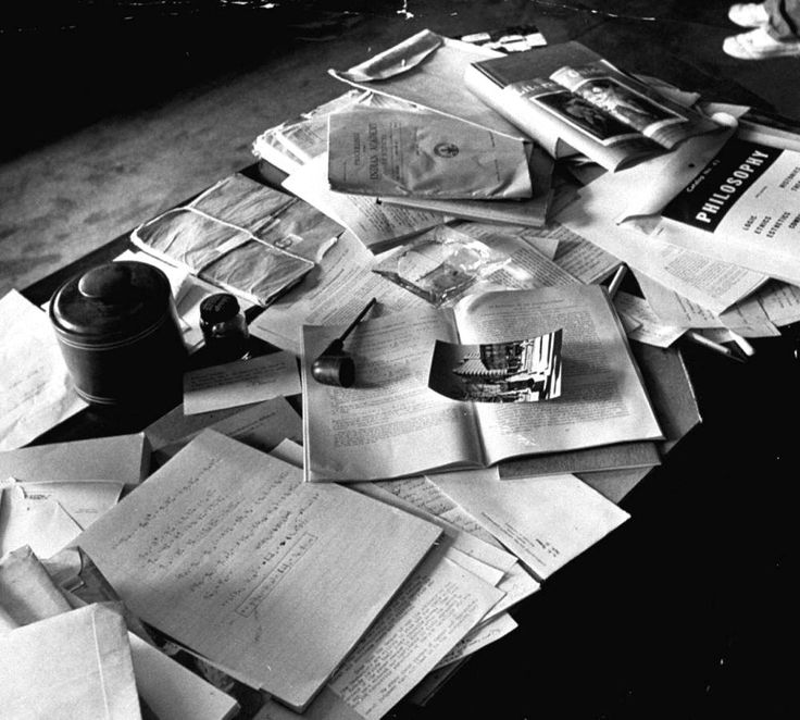 Einsteins Desk Upon His Death.: