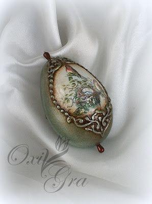 #OxiGra #decoupage #egg #pisanka #reliery