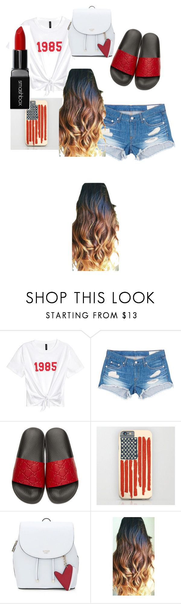 """casual  ♥♥baddie gal"" by syr-ina on Polyvore featuring rag & bone/JEAN, Gucci and Smashbox"