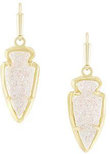Kendra Scott Kate Arrowhead Druzy Drop Earrings