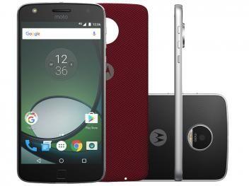 """Smartphone Motorola Moto Z Play 32GB Preto e Prata - Dual Chip 4G Câm 13MP + Selfie 5MP Flash Tela 5.5""""-de R$ 2.299,00 por R$ 2.199,90   em até 10x de R$ 219,99 sem juros no cartão de crédito  ou R$ 1.979,91 à vista (10% Desc. já calculado.)"""