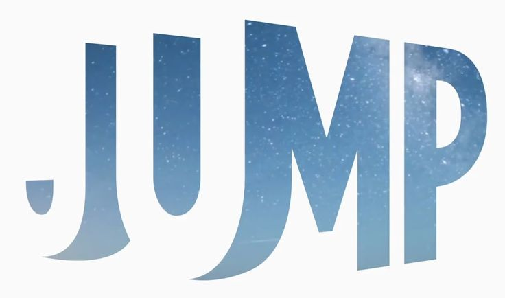 Jump logo – great use of positive and negative space in a unique, interesting design
