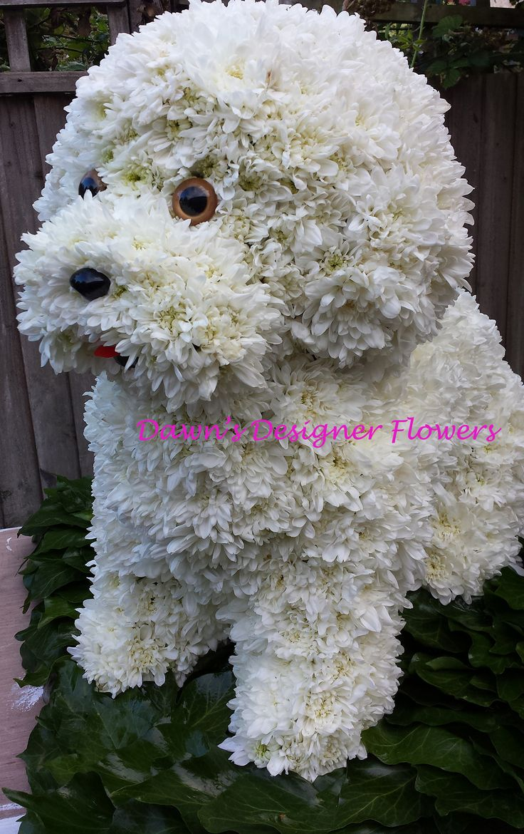 445 best bijzonder rouwwerk images on pinterest dog funeral tribute this dog has been designed using tiny chrysanthemum heads we can izmirmasajfo