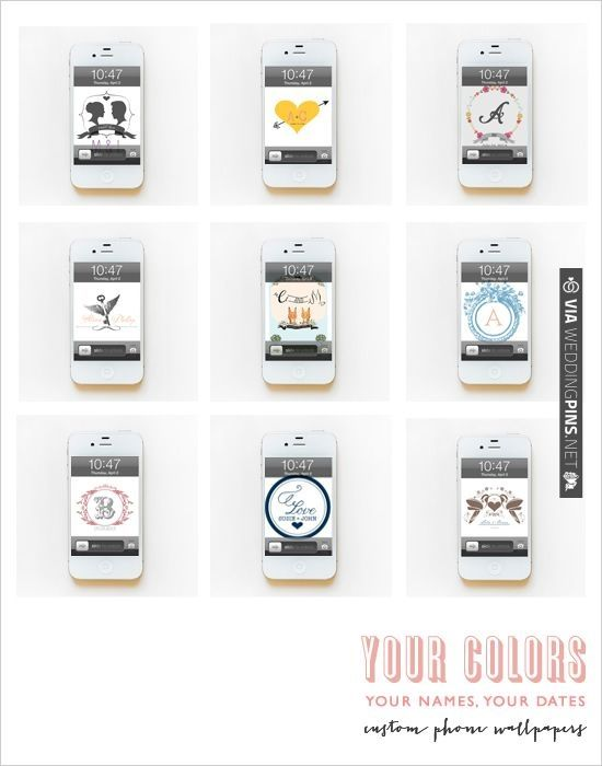 grab your favorite free custom wallpapers. download from the site right on your phone. the wedding chicks, making it easy to get cute things for nuthin. (; | CHECK OUT MORE IDEAS AT WEDDINGPINS.NET | #printableweddingtemplates