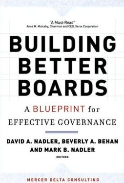 An approach to corporate governance far beyond legal compliance. Building Better Boards promises to be a practical and provocative blueprint which will assist decision makers and CEO's in creating value.