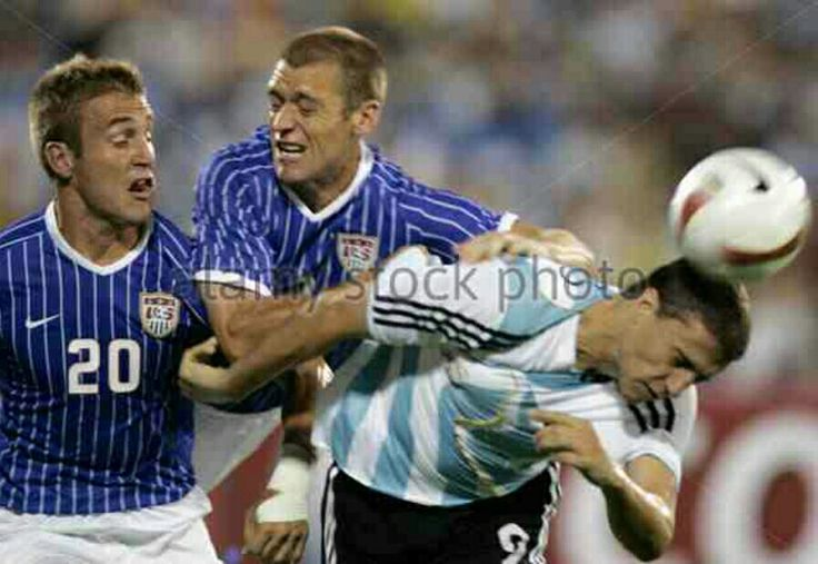 Argentina 4 USA 1 in 2007 in Maracaibo. Hernan Crespo gets his 2nd goal to make it 2-1 to Argentina after 60 minutes in Group C at Copa America.