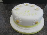 Daisy Cake  18 th Birthday