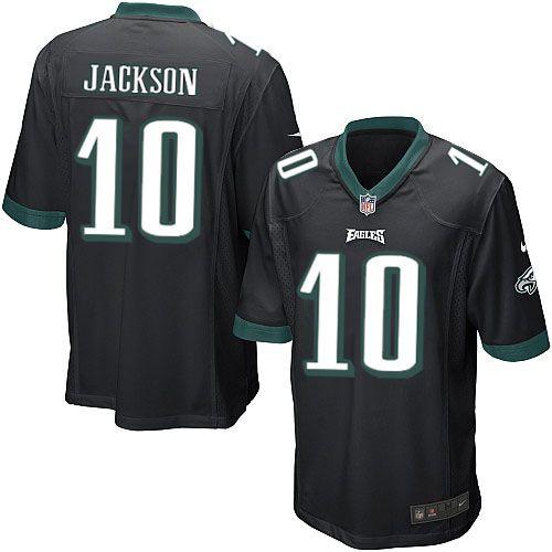 Mens Nike Philadelphia Eagles http://#10 DeSean Jackson Game Alternate Black Jersey$79.99