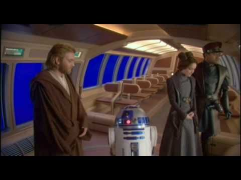Star Wars Episode 2 outtakes, OMG I cannot stop laughing! Graceful Hayden...Real graceful. LOL!