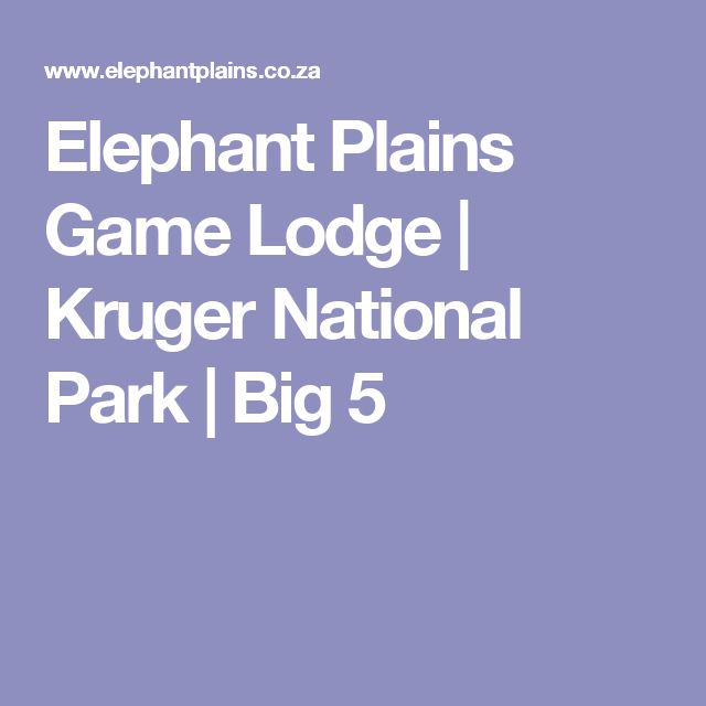 Elephant Plains Game Lodge | Kruger National Park | Big 5