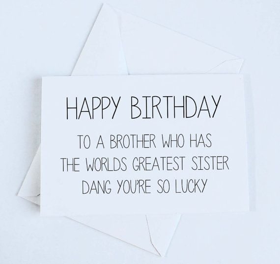 Brother Birthday Card Sister to Brother Birthday door OrangeCricket