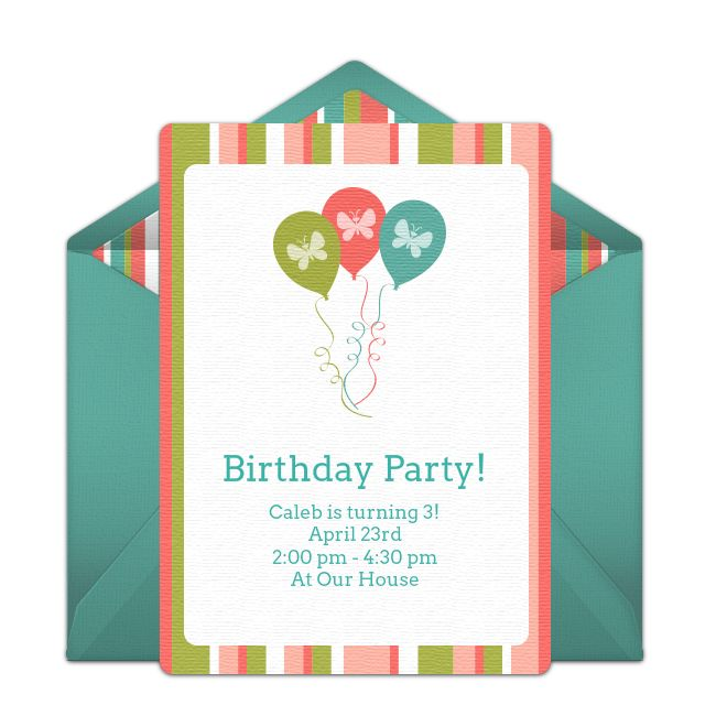 218 best Free Party Invitations images – Punchbowl Birthday Invitations
