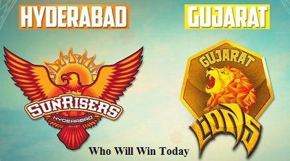 GL vs SRH Today Match Prediction Gujarat Lions vs Sunrisers Hyderabad IPL 53rd Match