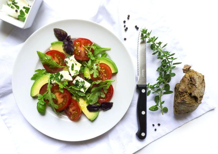 Summer Salad with Oregano-Marinated Feta Cheese