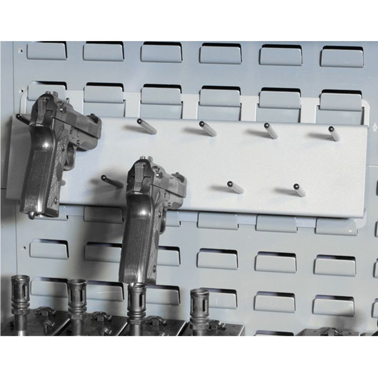 Have many handguns that need proper storage? The SecureIt 11 capacity Pistol Peg is your solution!