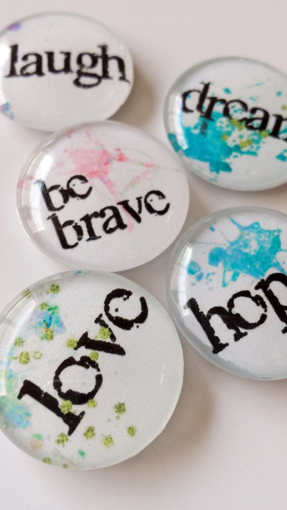 Beautiful little gifts >> Inspiration Glass Magnets by ArletteBoutique on Etsy, $13.00