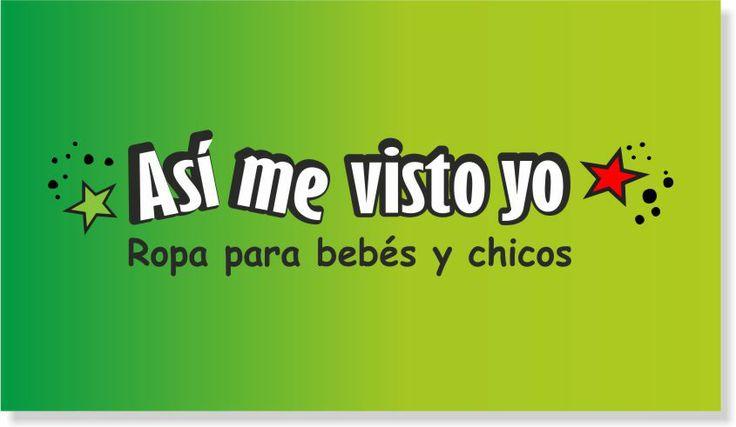 """Diseño de Logo """"Así me visto yo""""  Tienda de Ropa para bebés y chicos. Mayo 2014- Ituzaingó - Buenos Aires"""