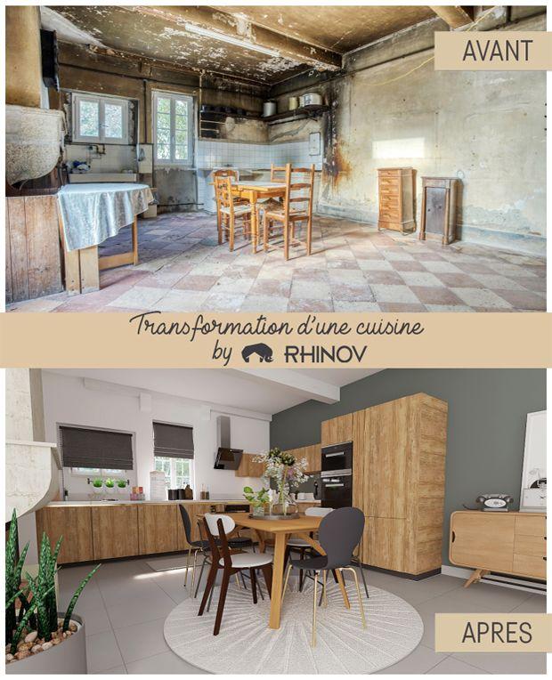 Transformation D Une Cuisine Rhinov Decoration Interieure Deco Maison