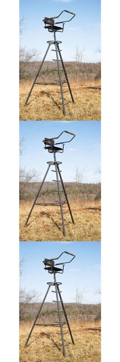 Game Carts Gambrels and Hoists 177888: Tripod Deer Stand Tower 10 Ladder Camouflage Seat Hunting Bow Rifle Shooting BUY IT NOW ONLY: $124.91