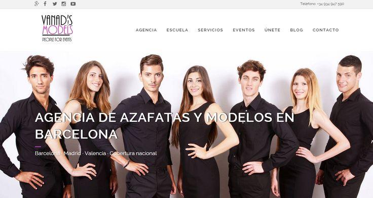 Uno de nuestros diseños finalizados, Vanadismodels.com una agencia de azafatas, modelos y Staff para eventos en Barcelona! ¿Qué os parece?
