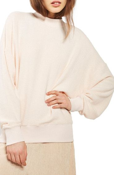 brushed batwing sweatshirt by Topshop. You know when your best friend goes above and beyond for you? That's kind of like this sweatshirt, as essential as yo...