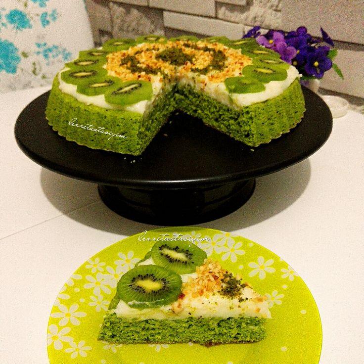 ıspanaklı tart kek