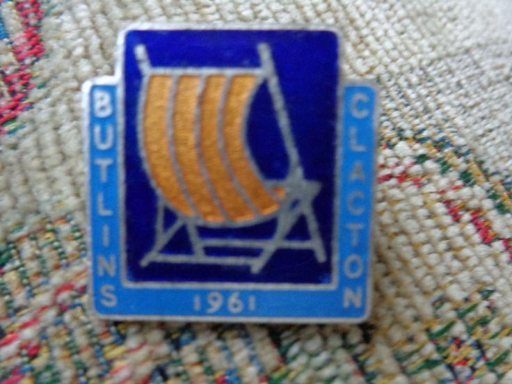 Butlin's Clacton Vintage Enamelled Badge by Merrimans on Etsy