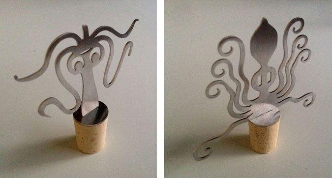 Cephalopods | STUDIO TREPAN stainless steel, 9 x 10 cm